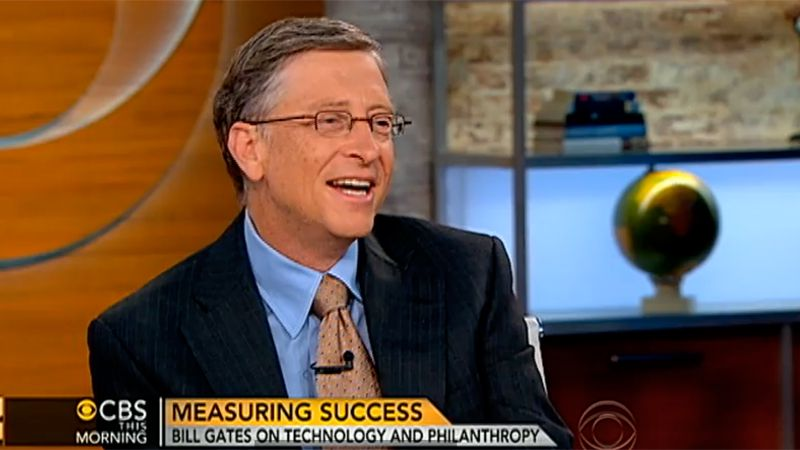 Bill Gates på CBS This Morning.