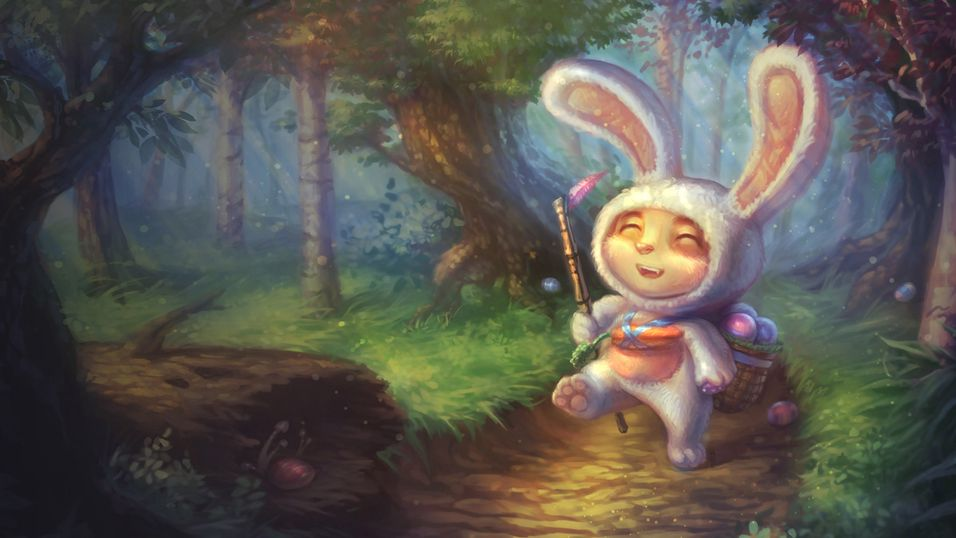 """Here comes Teemo Cottontail, hopping down the... """
