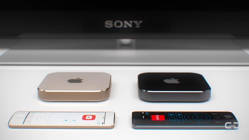 Illustrasjonsbilde. Apple TV-konsept fra designerstudioet Curved.