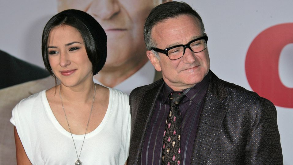 Zelda Williams med faren Robin.