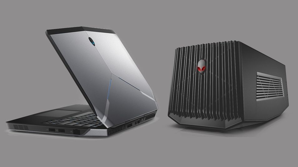 Alienware 13 og Graphics Amplifier.