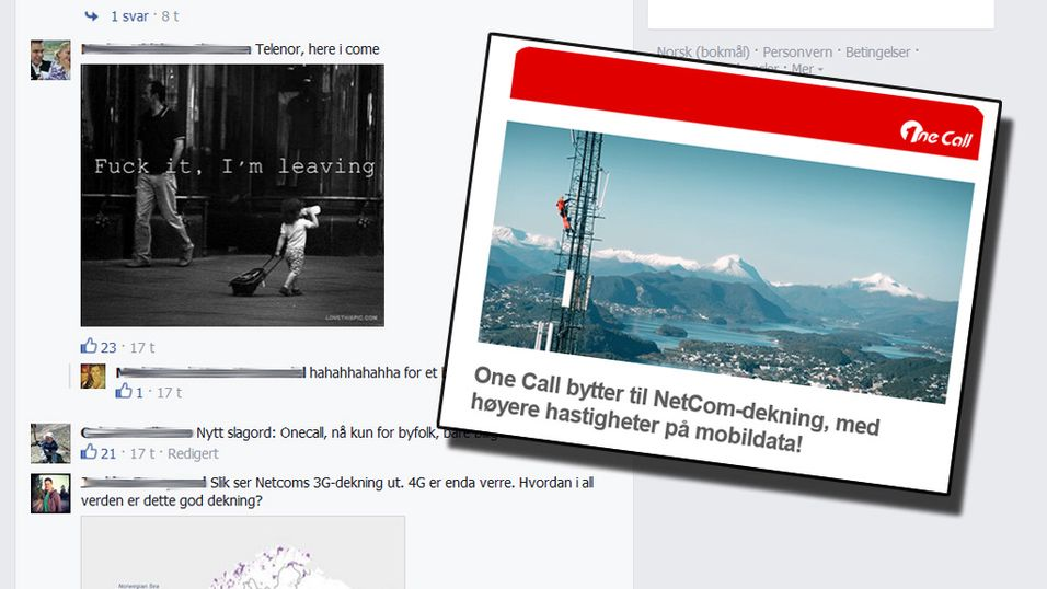 One Call-kunder tvinges over til NetComs nett