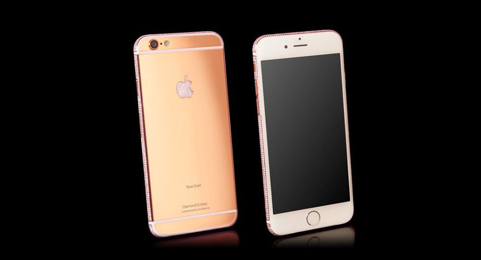 Goldgenie lager ekslusive iPhone 6-telefoner. Her i Rose Gold-versjonen.
