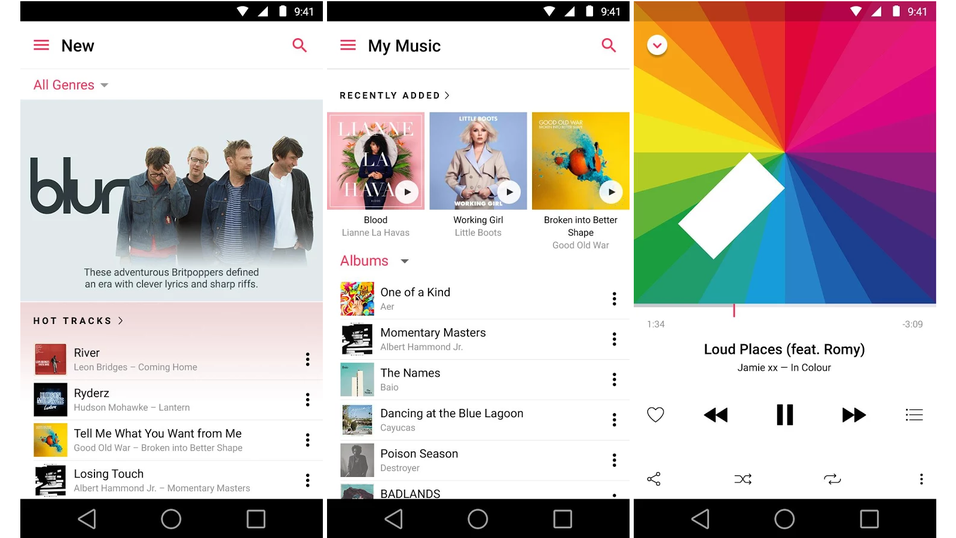 Apple Music på Android.