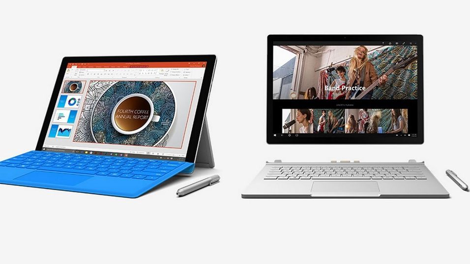 Surface Pro 4 og Surface Book.