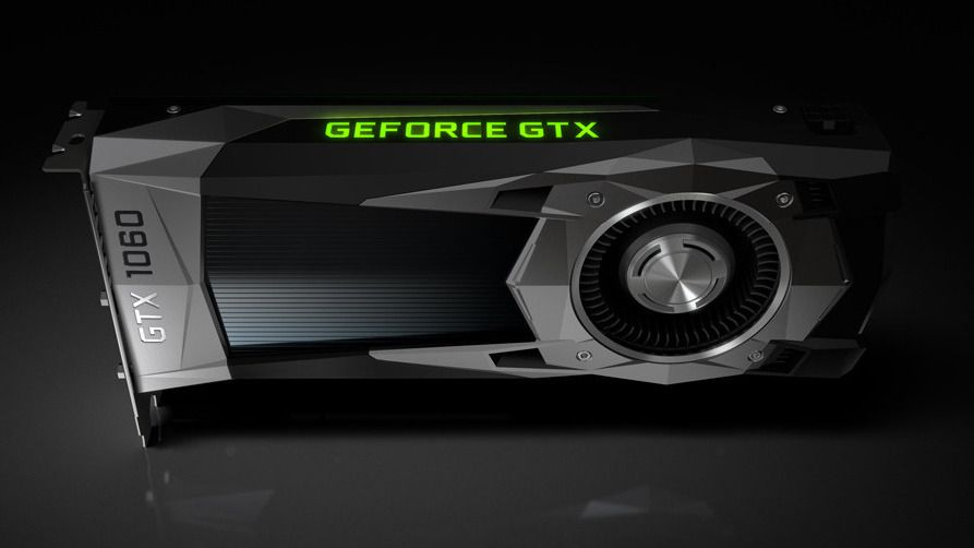Nvidias GeForce GTX 1060 Founders Edition.