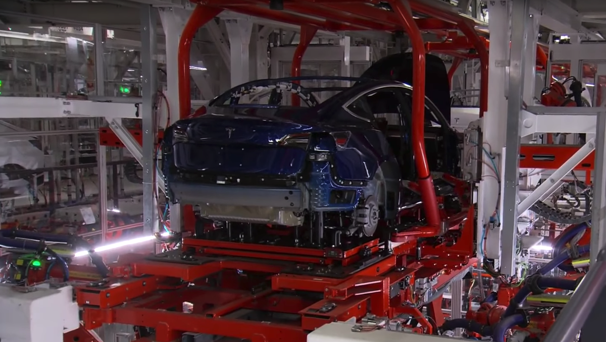 f1c1cd3179cb3 Tesla boss Elon Musk gave the world a rare insight into Model 3 production  line