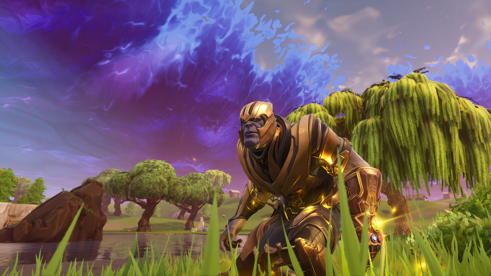 Thanos har landet i Fortnite!