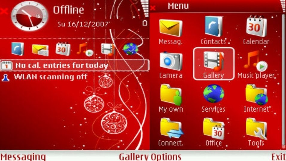 Red X-Mas mobiltema