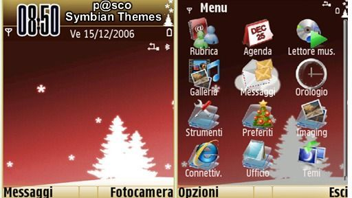 Red Xmas mobiltema
