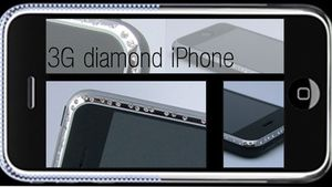 Iphone 3G med diamanter i kantene