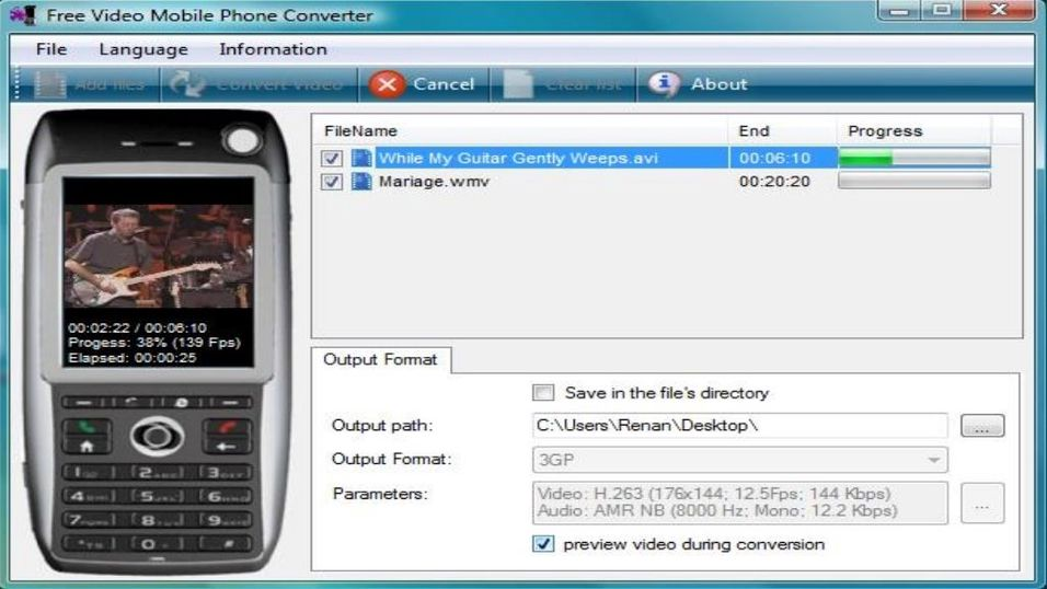 Free Video Mobile Phone Converter 1.1