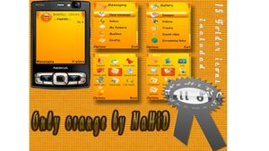 Only orange mobiltema