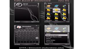 Flow black mobiltema